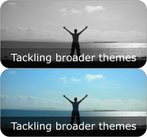 tackling broader themes